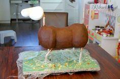Horse cake with ganache - Pferdetorte mit Ganache
