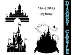 Disney Princess Castle Silhouettes // by SparkYourCreativity, $5.00