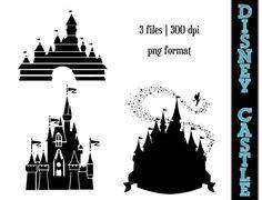 Disney Princess Castle Silhouettes // by SparkYourCreativity, $5.00