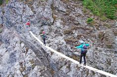 Climbing the Via Ferrata Way at Mount Norquay in Banff National Park