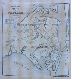 Reproduction-Map-A-Map-of-the-Town-of-Chatham-Mass.