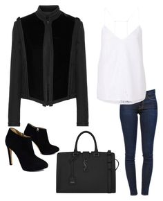 """Untitled #98"" by cherea on Polyvore featuring Lanvin, Frame Denim, Giuseppe Zanotti, Witchery and Yves Saint Laurent"