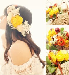 straight hairstyle with flower for wedding by clip on 20 inch brown cheap hair extensions for short hair