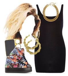 """""""✨"""" by trillest-queen ❤ liked on Polyvore featuring River Island, Jeffrey Campbell and H&M"""
