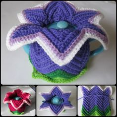 Crochet Daylily Tea Cosy For Mother's Day with Free pattern