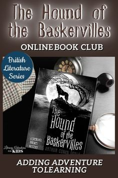 In this course, we will read through the book, The Hound of the Baskervilles by Arthur Conan Doyle. As we are reading, we will go on rabbit trails into history, science, art, and more. We will find ways to learn by experiencing parts of the book through hands-on activities. This online literary guide has everything you need to study the book. This course includes vocabulary, grammar, discussion questions, rabbit trails, and a writing project. Reading Resources, Reading Activities, Homeschooling Resources, Book Club Books, The Book, Good Books, Online Book Club, Books Online, Classic Literature