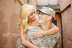 Military Engagement photos..    Billy and Chloe are so adorable!