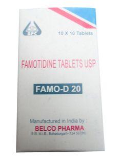 FAMOTIDINE OTC 20mg ACID Re-flux Reducer Heartburn Gastritis 100- 200pills