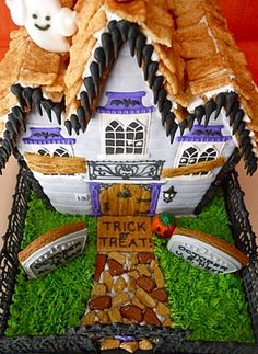 Haunted gingerbread house!