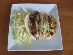 Have Dinner With Us! : Grilled Chicken Soft Tacos with Scallion Dressing