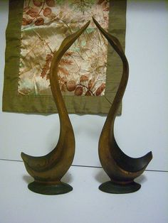 Carved Wood Loons Ducks Rustic Geese by StartathomeVintage on Etsy, $32.00