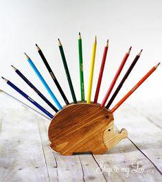 DIY Hedgehog Pencil Holder