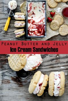 Peanut Butter and Jelly Ice Cream Sandwiches   www.floatingkitchen.net