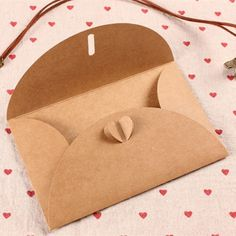 Heart Clasp Kraft Paper Packaging Envelopes For Postcard Photo Or Business Letters Wedding Party Invitation Card DHL-in Cards & Invitations from Home & Garden on Diy Envelope, Envelope Design, Wedding Party Invites, Wedding Invitation, Paper Packaging, Packaging Ideas, Gift Packaging, Diy Gift Box, Gift Tags