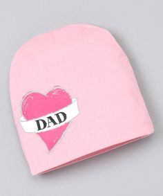 Loving this Pink 'Dad' Tattoo Beanie on #zulily! #zulilyfinds