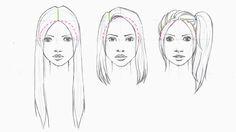 LOVEtHEART - Fashion Illustration: DRAWING HAIR