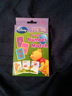 "1 DISNEY/POOH Flash Cards: ""NUMBERS MATCH""-Numeral, Number Word, Sets, Centers #2009DisneyEnterprisesBendonPublishing Starting Bid only $2.49....."