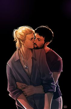 Anders and broHawke - mmm... pretty boys in love... <3