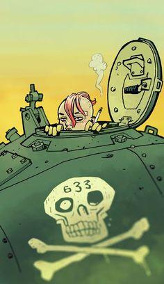 Tank Girl by project artist Philip Bond Tank Girl Comic, Jamie Hewlett Art, Science Fiction, Jet Girl, Nerd, Girl Posters, Illustrations, Book Girl, Girl Bands