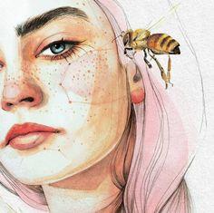 Портретный иллюстратор Ana Santos - Simple + Beyond