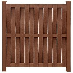This is a unique fence panel style - although I would definitely not make it out of trex! -