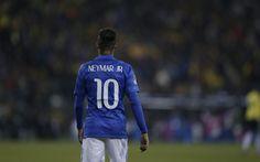 Download wallpapers Neymar JR, Brazil, Football, national team of Brazil