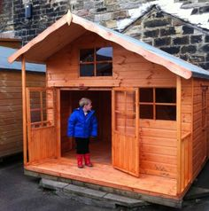 Childrens-Wooden-Playhouse-8x6-Adventure-2-storey-playden-play-garage-verandah