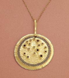 Tapio Wirkkala Filigree Jewelry, Stone Jewelry, Pendant Jewelry, Gold Pendant, Pendant Necklace, Unusual Jewelry, Modern Jewelry, Vintage Jewelry, Contemporary Jewellery
