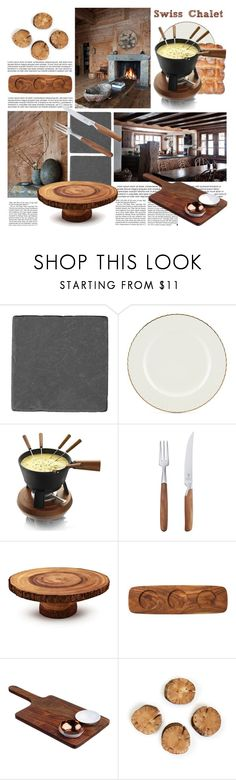 """SWISS CHALET"" by tiziana-melera ❤ liked on Polyvore featuring interior, interiors, interior design, home, home decor, interior decorating, Lenox, Boska, Victoria Beckham and Mono"