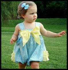 Sweet Baby Jane Sun Suit by Rufflebunnies Sara Norris Ltd. Newborn to Easy Baby Sewing Patterns, Frock Patterns, Baby Girl Dress Patterns, Baby Clothes Patterns, Clothing Patterns, Baby Dress, Pattern Sewing, Paper Patterns, Pdf Patterns