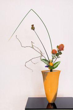 Ikebana ikenobo rikka shimputai japan flower arrangement by Lusy Wahyudi. Indonesia
