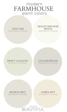 Good Farmhouse Color Palette Modern Farmhouse Color Palette. Best Paint Colors For Modern Farmhouse. Via A Burst Of