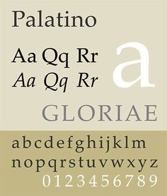 38. Palatino, Herman Zapf (1950) — In 2004, more than 50 years after its conception, the typeface was fully reworked and re-released as Palatino Nova. #typography #fonts