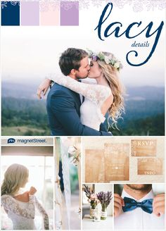 Sweet & Chic Lace Wedding Ideas For A Rustic-Boho Style