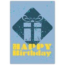 Coole Geburtstagskarte mit fettem Geschenk: Happy Birthday