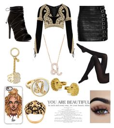 """""""Fairytail : 12 Zodiac Gates Leo the Lion"""" by maddog3861 ❤ liked on Polyvore featuring Casetify, Yves Saint Laurent, For Love & Lemons, Gucci, MICHAEL Michael Kors, Carolina Bucci, Latelita and Wolford"""