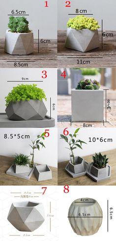 Cement Flower Pots, Diy Concrete Planters, Concrete Molds, Cement Pots, Diy Planters, Succulent Planters, Succulents Garden, Concrete Garden, Concrete Crafts