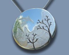 Silver is the most reflective metal on the planet. Alpine Bird Silver Pendant. Angela Wright Designs  www.angela-wright.co.uk