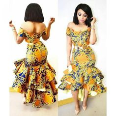 Ankara styles are the most beautiful pieces of clothing. Ankara Styles is one of the hottest African fashion you need to wear. We have many Women's African Fashion Style Outfits for you Perfe… African Inspired Fashion, Latest African Fashion Dresses, African Print Dresses, African Print Fashion, Africa Fashion, Fashion Prints, Fashion Design, African Prints, Nigerian Fashion