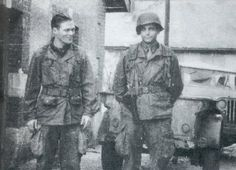 "Best friends Major Richard Winters and Captain Lewis Nixon. 101st Airborne.  ""Band of Brothers"""