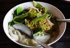 Rice noodle soup