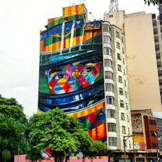 Airton Senna  -Eduardo Kobra (...) - R. da Consolação 2608, Consolação São Paulo (Brazil)