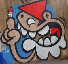 The grafitty Gnome from Holland, Utrecht.