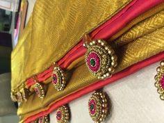 How to Make Saree Tassel/Kuchu design with Beads @ Home - Design 21::Tutorial - YouTube