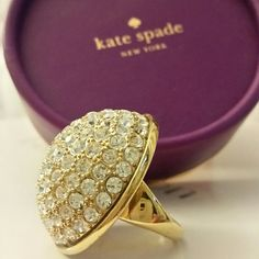 Kate Spade Pave The Way Ring Gorgeous Kate Spade Pave The Way ring size 7. Great condition, no stones missing. Comes with small box and brown dust bag. kate spade Jewelry Rings