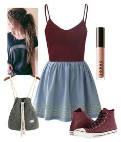 """""""Read description please!"""" by a-dance02 ❤ liked on Polyvore featuring Chicwish, Glamorous, Converse and LORAC"""