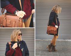 Lusstra Bag, Sheinside Sweater, Zero Uv Sunnies, It Shoes Booties, Zara Jeans, Pull And Bear Plaid Shirt