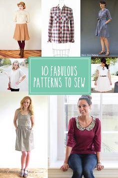 10 Fabulous Patterns to Sew