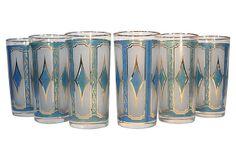 Midcentury Harlequin Glasses, S/6 on OneKingsLane.com Pint Glass, Barware, Mid Century, Glasses, Tableware, Vintage, Eyewear, Eyeglasses, Dinnerware