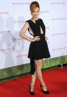 Rachel McAdams looks smokin' in a Saint Laurent cut-out dress. #LittleBlackDress #LBD